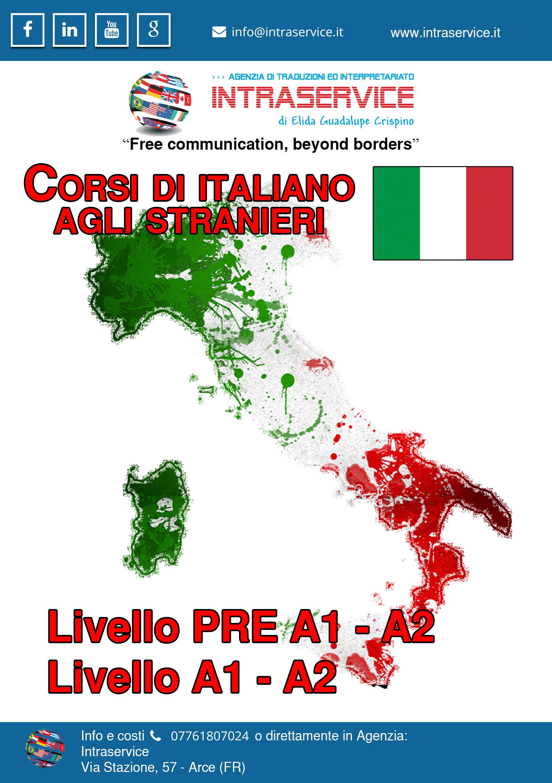 Corso Italiano Per stranieri Arce Frosinone